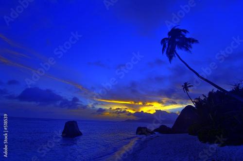 Leinwanddruck Bild seychelles la digue