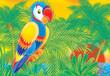 Detaily fotografie papoušek