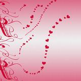 valentine heart background poster