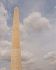 washington monument & clouds