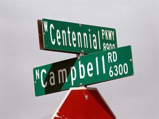 streetsign: campbell & centennial