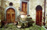 3 doors in rural italy poster