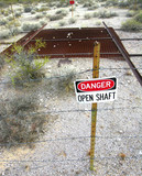 open shaft hazard poster
