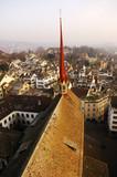 switzerland, zurich: city view poster