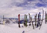 switzerland, mount titlis in winter: summit poster