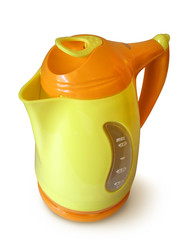 orange and yellow cordless jug kettle