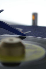 blue needle on the record
