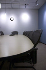 chairs in a row in the conference room