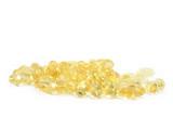 a bunch of yellow gel pills poster