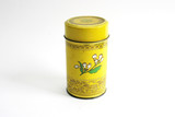 yellow chinese tea tin poster