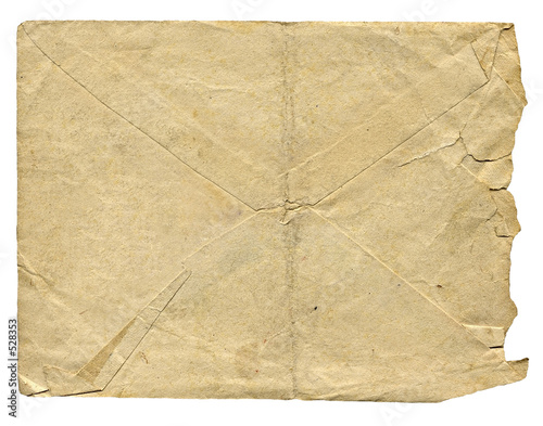 isolated old envelope for letter