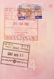 passport stamps - visa to lebanon poster