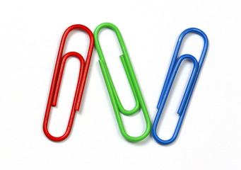 colored clips trio