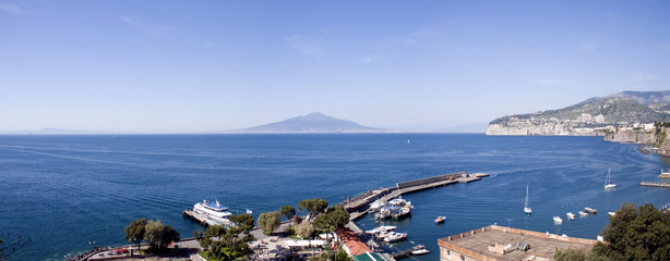 naples view from the port of sorrento