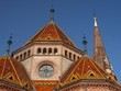 roof of buda reformed church, budapest