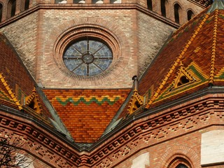 buda reformed church detail, budapest