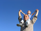 granfather with grandson poster