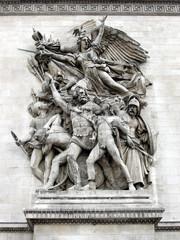 champs-elysées detail - sculpture