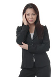 business woman with hand on head poster
