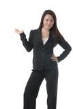 pretty asian woman in business attire poster
