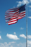 large american flag waving in the wind poster
