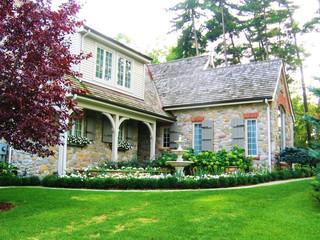 elegant stone home