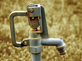 old water faucet with lever handle poster
