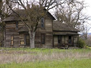 old run-down farm house