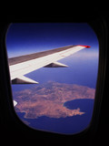 airplane window poster