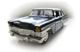 retro limousine - model car. hobby poster