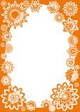 flower frame poster