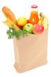 Пакеты с продуктами из супермаркета Shopping bag.