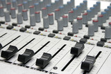 mixing console poster