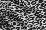 animal print on fabric poster