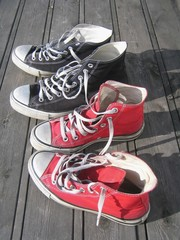 his and her sneakers