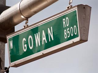 streetsign: gowan road