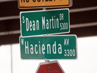streetsign: dean martin dr & hacienda avenue