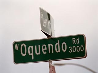streetsign: oquendo road