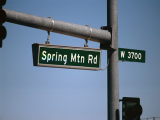 streetsign: spring mountain road