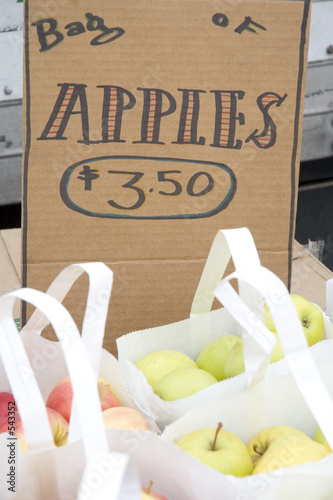 a bag of apples