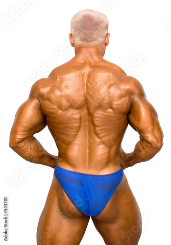 poster of bodybuilder isolated