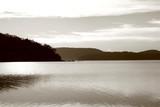 morning lake poster