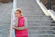 girl child stairs