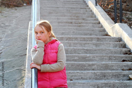 girl child stairs