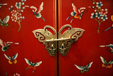 butterfly door on chinese-style furniture poster