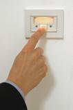 pressing doorbell poster
