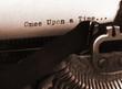 Leinwanddruck Bild - old typewriter (focus on text)