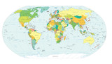 mapa světa politické hranice