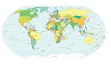 Weltkarte politischen Grenzen