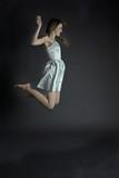pretty jumping women #1 poster